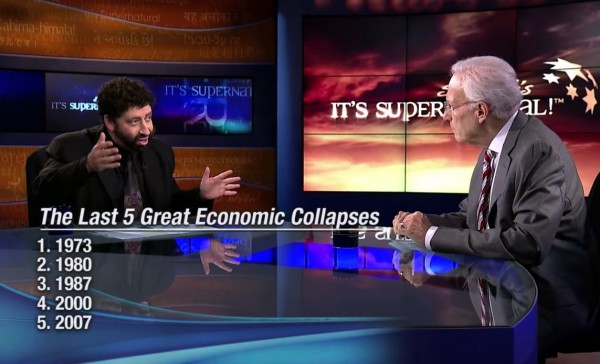 Jonathan Cahn promoting his book to It's Supernatural host Sid Roth who, time and time again, has shown an astonishing lack of discernment.