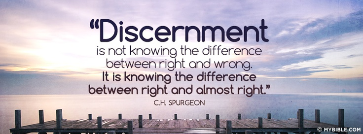 CH Spurgeon quote on discernment