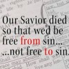 Free from sin