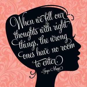 Joyce eyer on positive thoughts