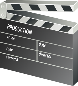 Hollywood - clapper board