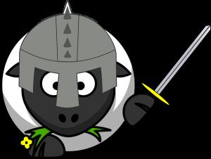Sheep wearing armor